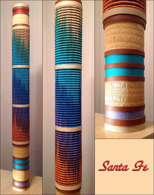 Custom Made Cylindrical Fiber Sculpture