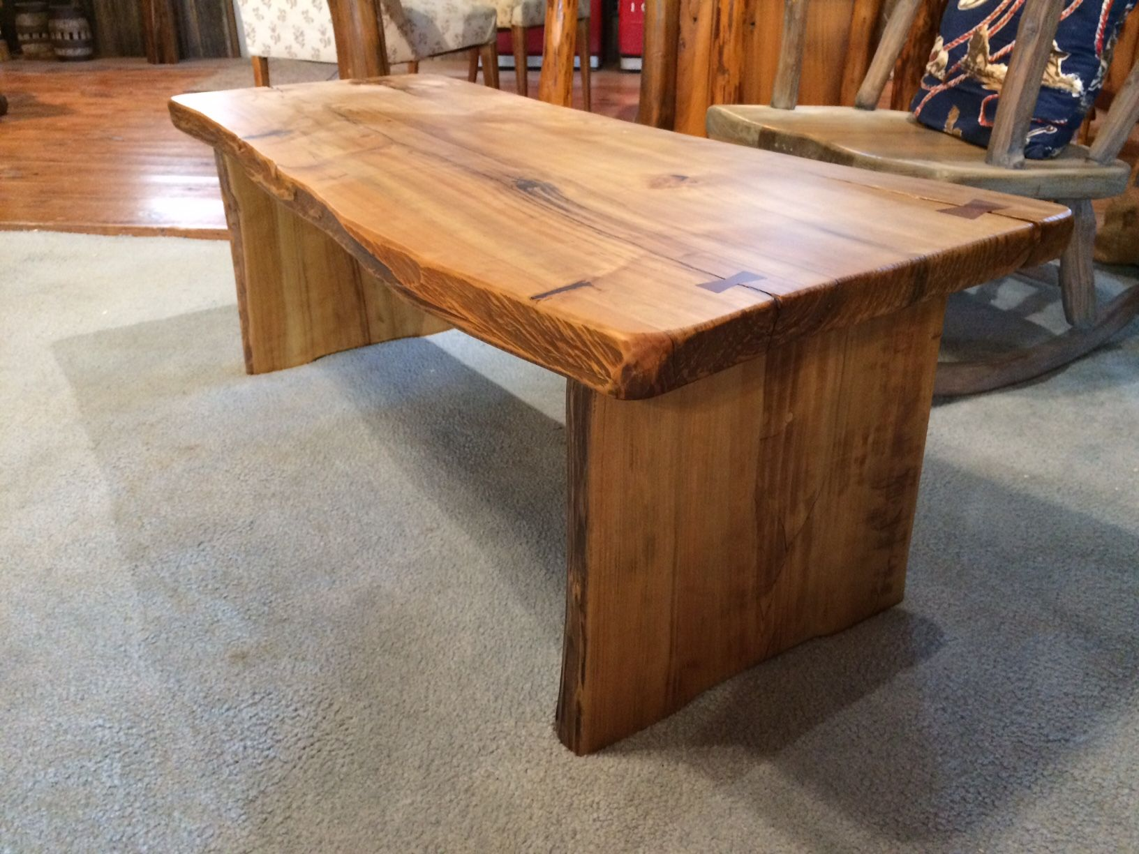 buy a handmade cypress coffee table, made to order from the