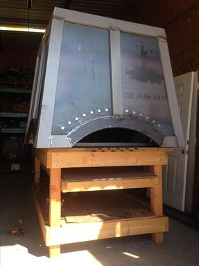 Custom Made Large Steel Chimney Cap