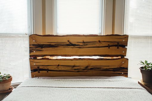 Custom Made Live Edge Wood Headboard And Bed Frame - Sassafras And Oak