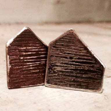 Custom Made Saltbox Cuff Links Sterling Silver