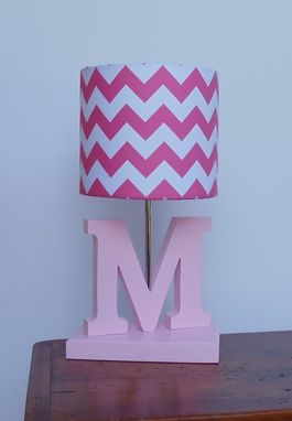 Custom Made Letter Lamp - Handmade Wooden Nursery Or Kids Lamp