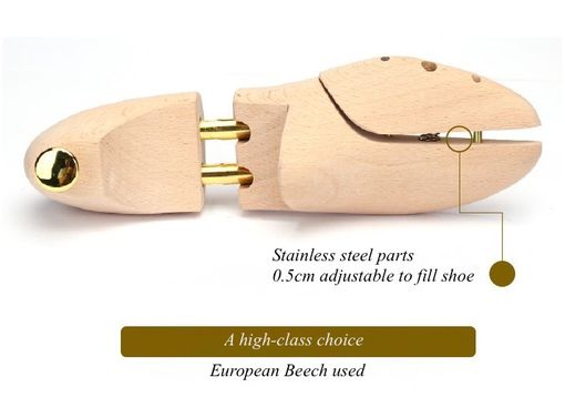 Custom Made Men Or Women Wooden Shoe Tree, Example Showing Beech Hard Wood