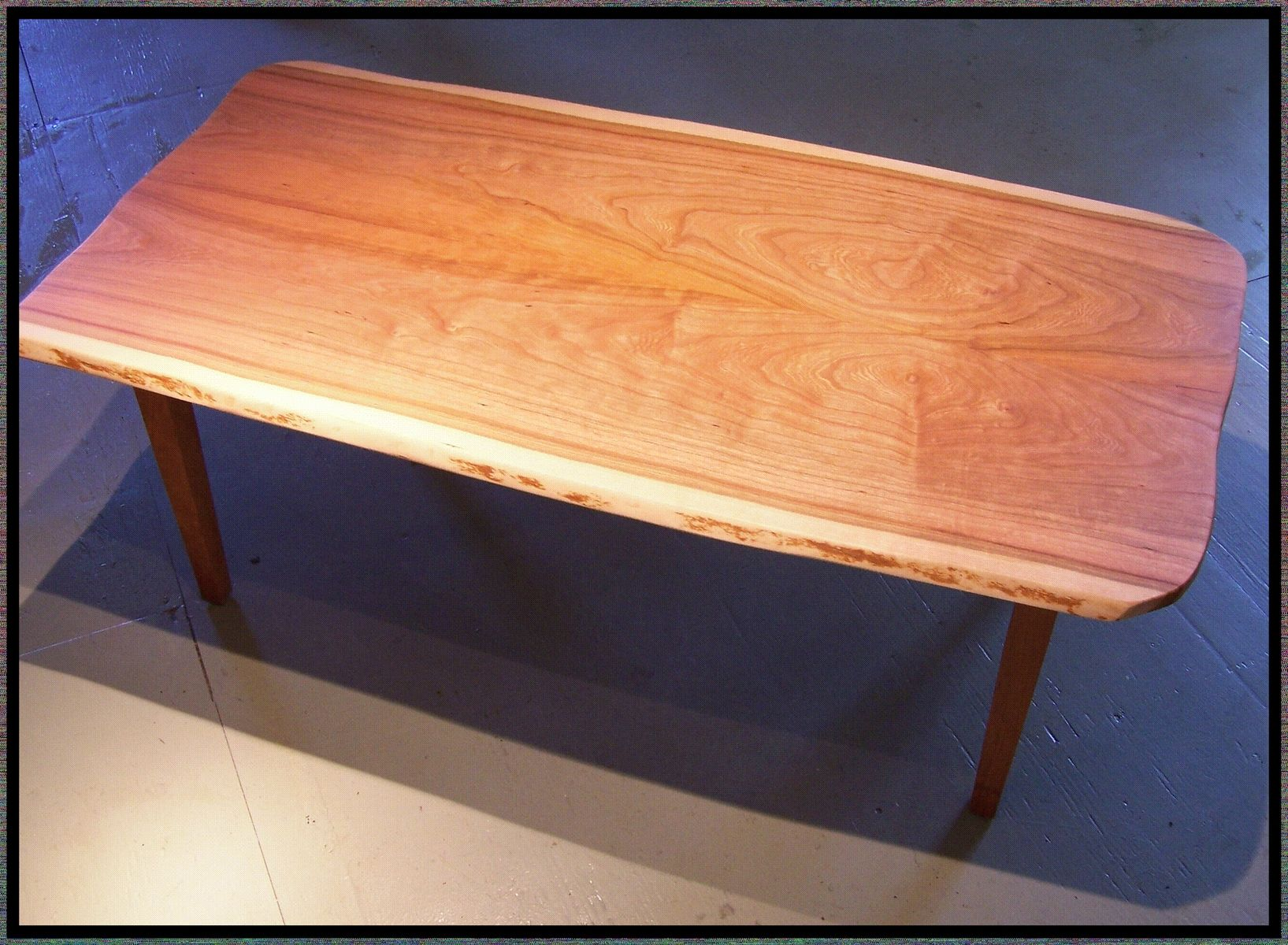Hand Crafted Live Edge Cherry Coffee Table By Rockledge Farm