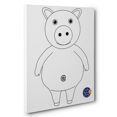 Custom Made Little Baby Bum Pig Kids Room Coloring Canvas Decor