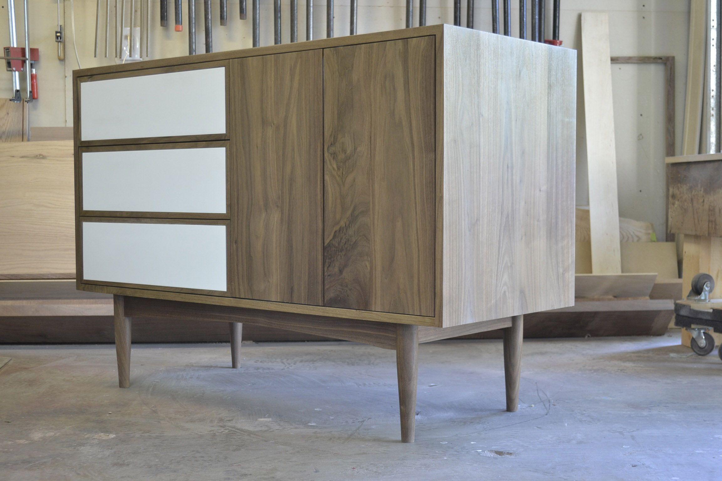 mid century modern vanity Custom Made Mid Century Modern Vanity by Blak Haus Furniture  mid century modern vanity