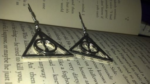 Custom Made Sale Harry Potter Inspired Deathly Hallows Earrings In Silver, Ready To Ship