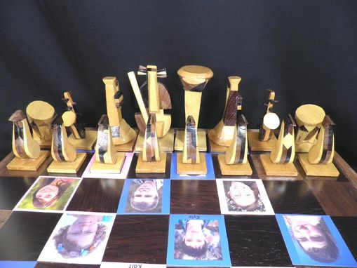 Custom Made Cubist Chess Board