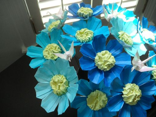 Custom Made Origami Blue Bouquet