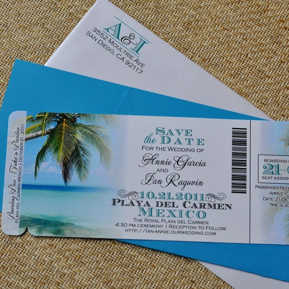 Custom Design Fee - Boarding Pass Invitation Or Save The Date ...