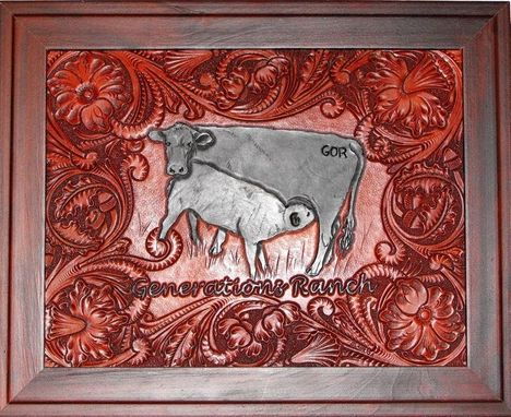 Custom Made Custom Ranch Leather Carving