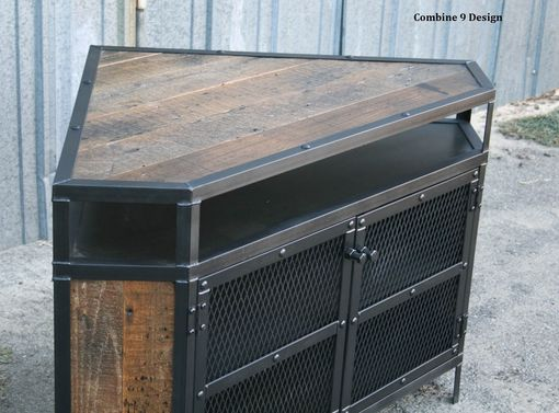 Buy a custom vintage industrial tv stand corner unit - Made com meuble tv ...