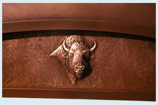 Custom Made Copper Range Hood With Repousse Buffalo