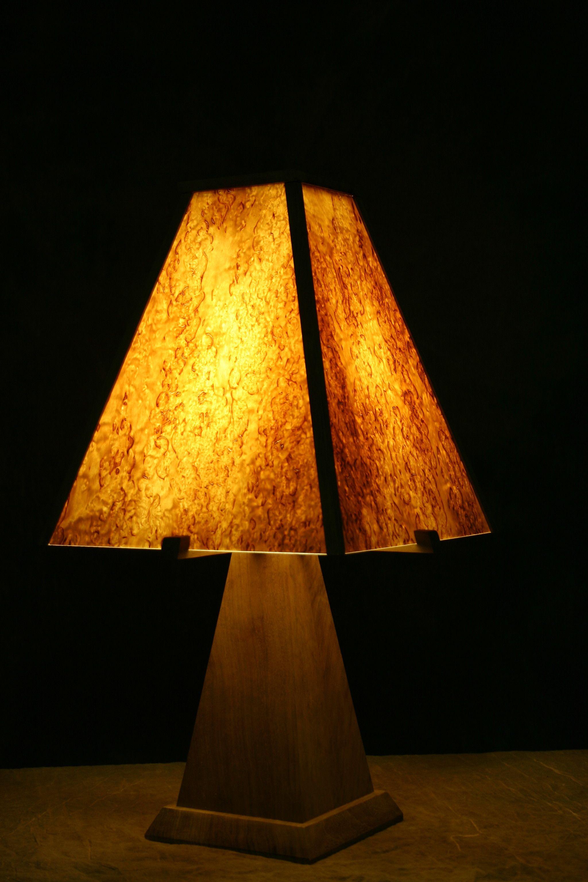 Buy A Handmade Karelian Birch Burl And Walnut Lamp Made