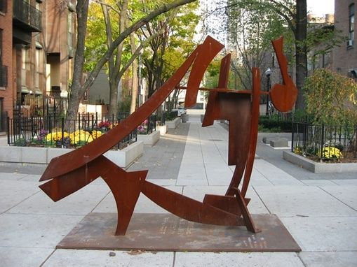 Custom Made Steel & Granite Lawn Sculptures