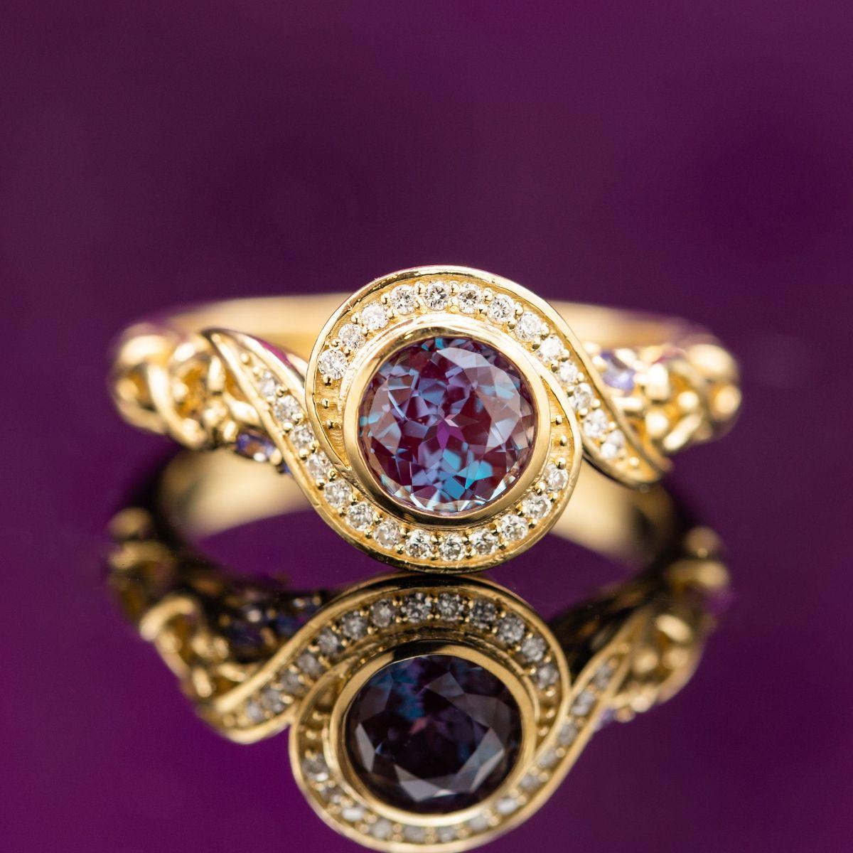 alexandrite engagement rings. Black Bedroom Furniture Sets. Home Design Ideas