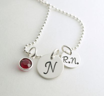 Custom Made Custom Nurse Necklace With Initial Charm Gift For Rn