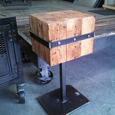 Hand Made Industrial Display Cart Custom Steel Kiosk