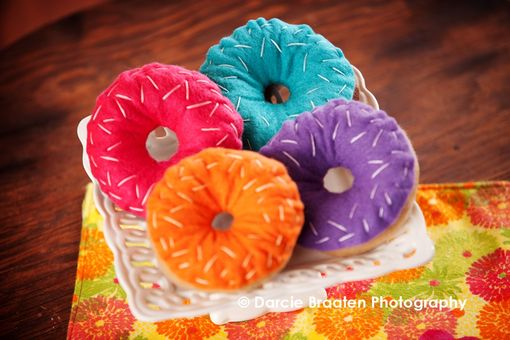 Custom Made Felt Donuts With Sprinkled Frosting