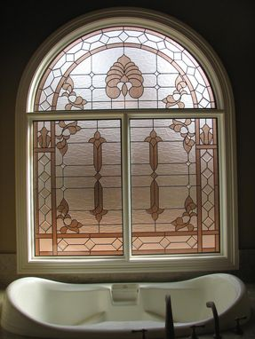 Custom Made Stained Glass Bathroom Window