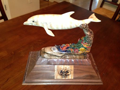 "Custom Made Dolphin Sculpture ""Peace On The Reef"""
