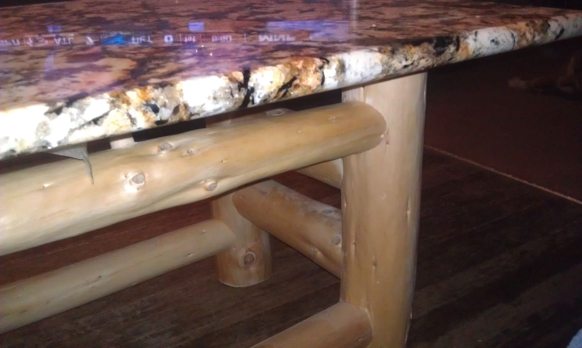 Handmade Robin s Granite Coffee Table With Golden Douglas Fir