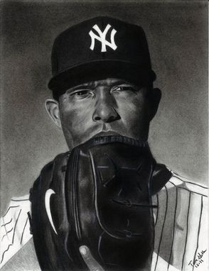Custom Made Portrait Drawing Of Mariano Rivera (1 Subject)