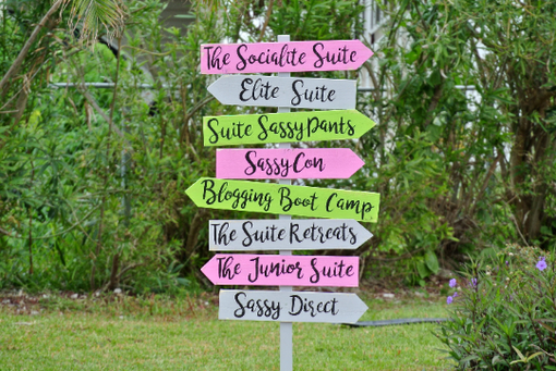 Custom Made Directional Guest House Sign, Arrow Wood Sign For Home Decor.