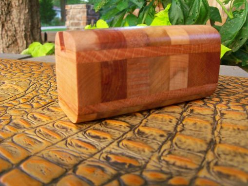 Custom Made Executive Card Holder In Purpleheart And Assorted Hardwoods