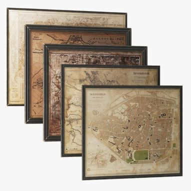 Custom Made Vintage Reproduction Maps And Prints