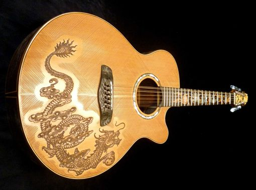 "Custom Made Blueberry ""Fierro"" 12-String Acoustic Guitar"