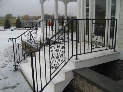 Custom Made Steel Stair Railing