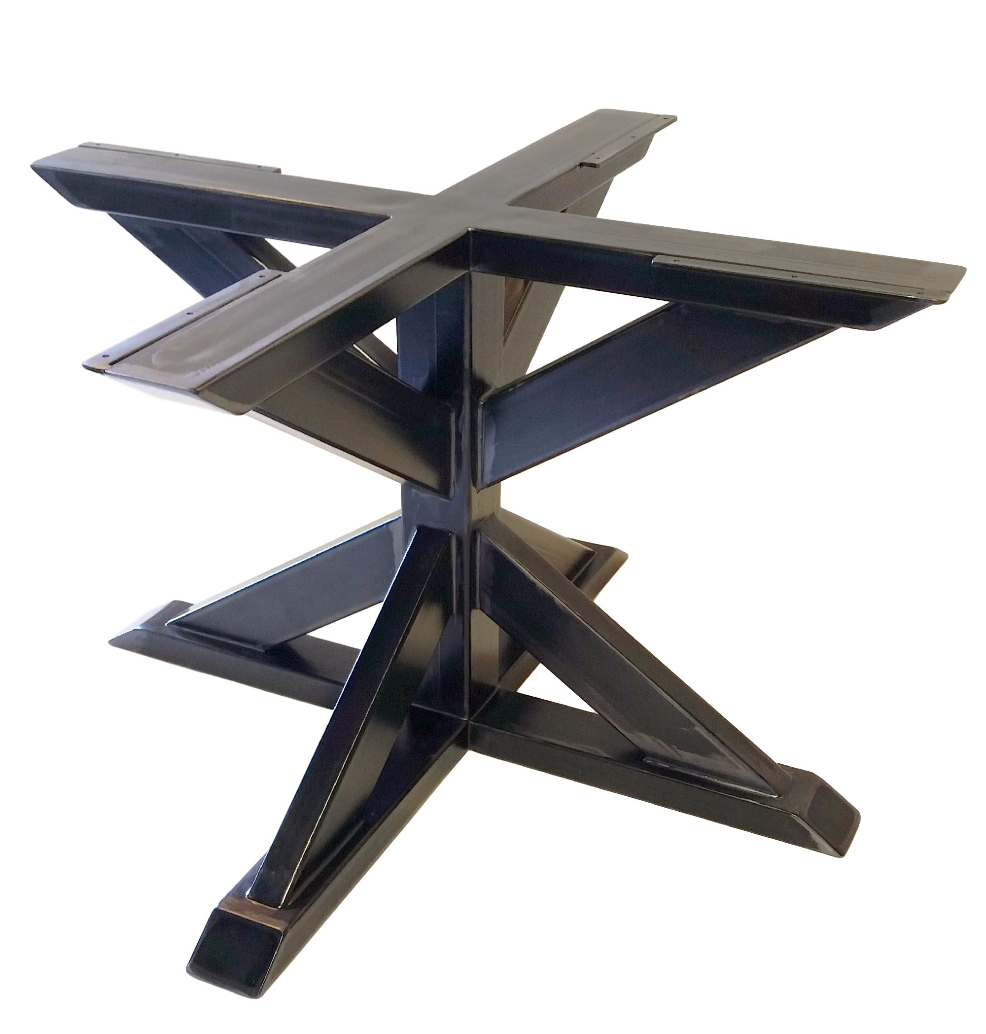 Custom Made Metal Pedestal Table Base Trestle