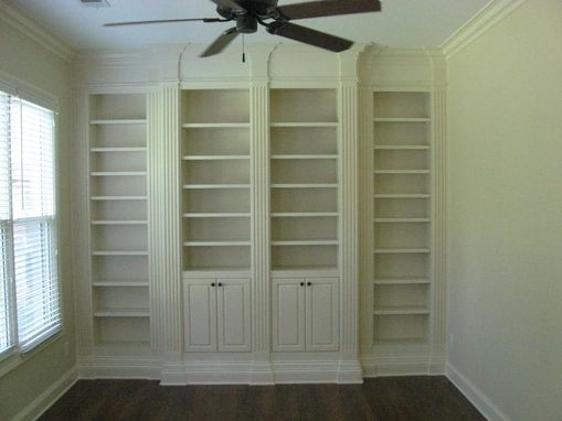 Custom Made Bookcase With Fluted Columns