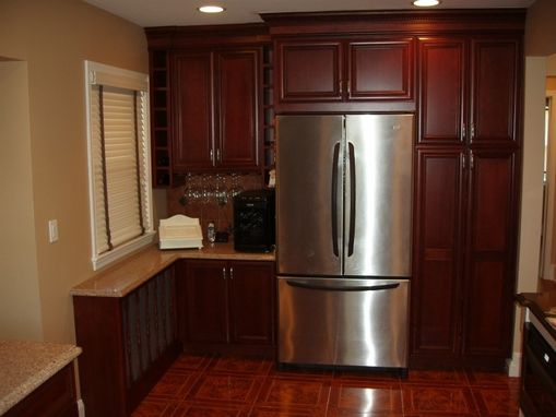 Custom Made Kitchen Cabinet Install With Custom Radiator Cover
