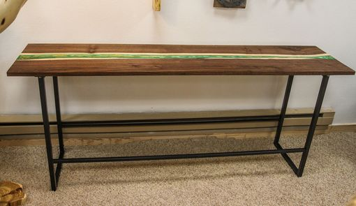 Custom Made Walnut River Console Table