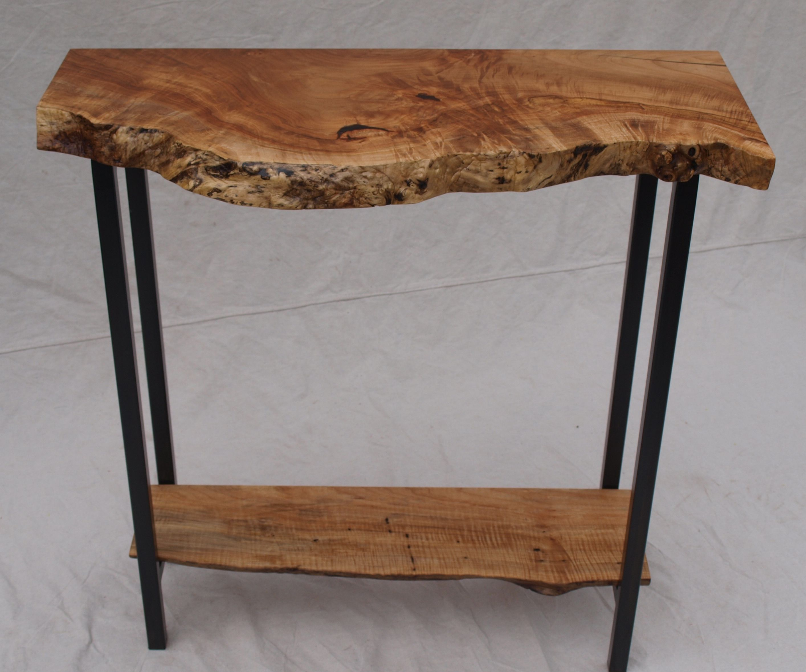 Buy a hand crafted live edge maple console table made to order custom made live edge maple console table geotapseo Gallery
