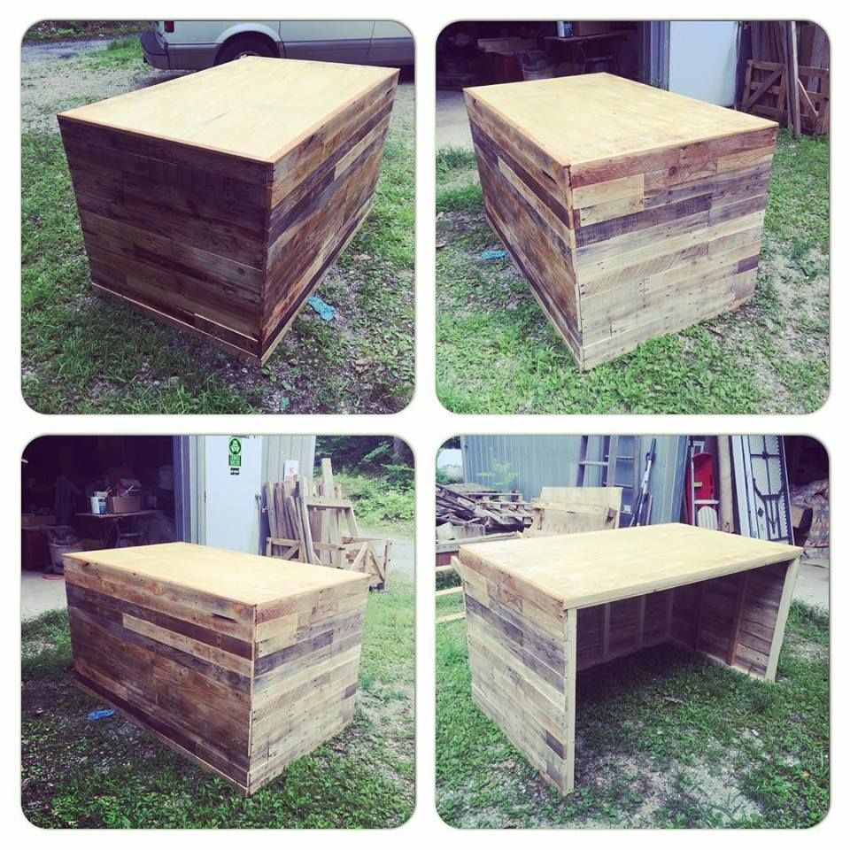 Custom Made Pallet Wood Desk
