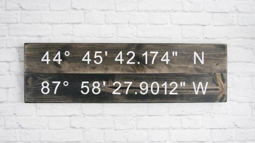 Custom Made Longitude Latitude Sign - Gps Coordinates Wood - Personalized Wood Home Wall Décor