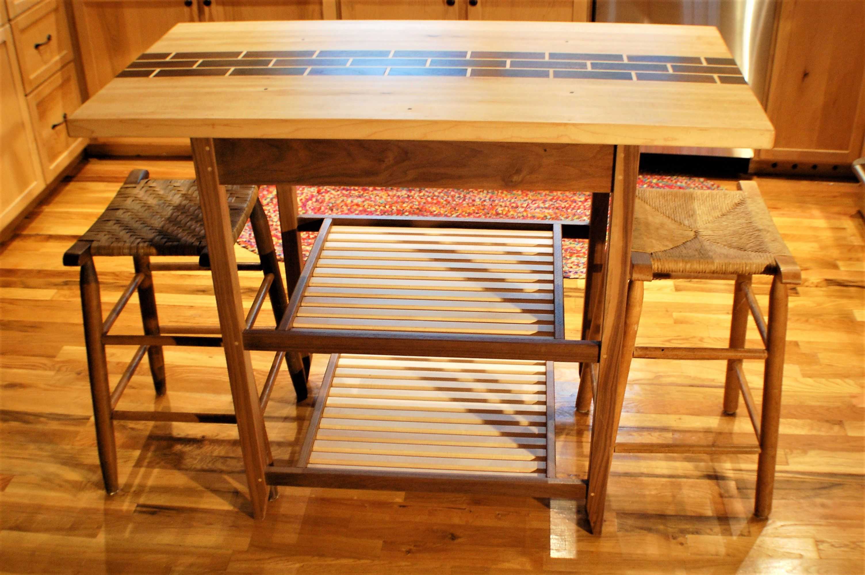 Buy a Custom Two Person Eat In Kitchen Island, made to order ...
