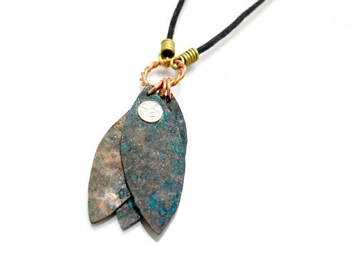 Custom Made Rustic Pendant - Mixed Metal Pendant - Copper Brass Silver Necklace - Tri Metal Necklace