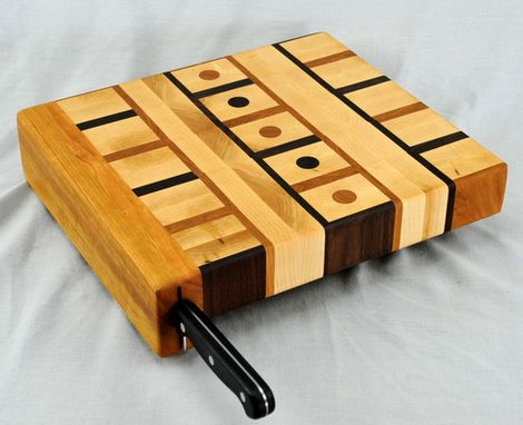 Custom Made End Grain Chopping Blocks With Knife Holders