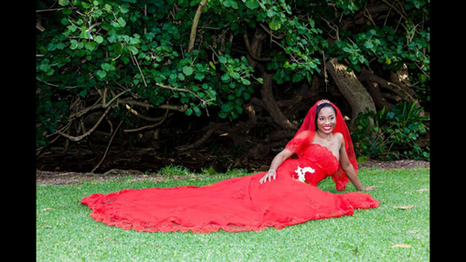 Custom Made Red Wedding Dress