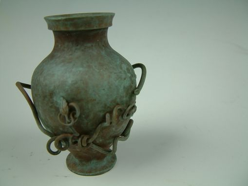 Custom Made Mini Amphora Vase W/ Vines