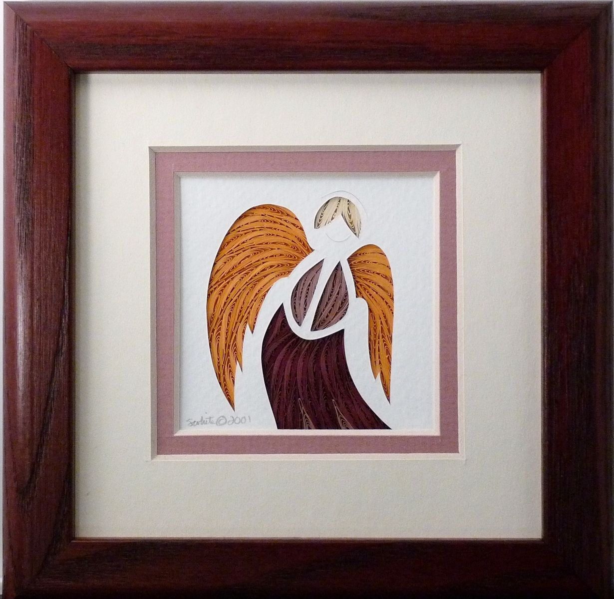 Buy A Custom Made Quilled Guardian Angel Wall Art Framed Made To