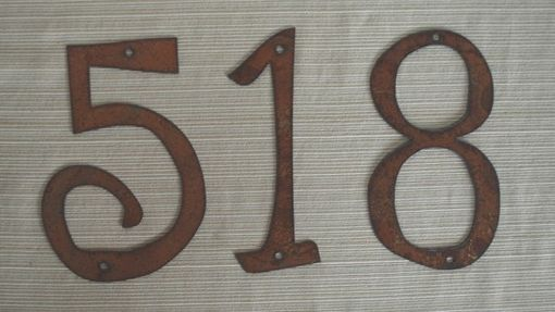 "Custom Made House Numbers 4"" - 8"" Size"