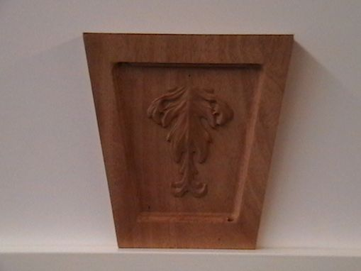 Custom Made Carved Leaf Accent