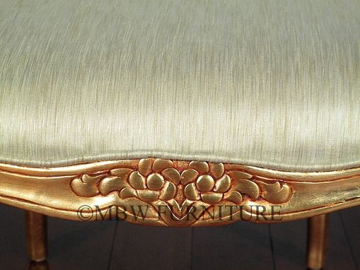 Custom Made Solid Mahogany Gold French Occasional Accent Chair