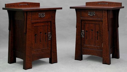 Custom Made Pair Of Spiral Grain Mackintosh Tables, Spectacular, End Tables Or Nightstands