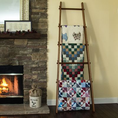 Buy A Hand Crafted 105 Inch Custom Apple Ladder Quilt Rack
